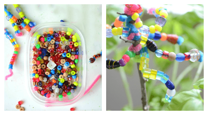 Garden Crafts - Make Beaded Garden Ornaments