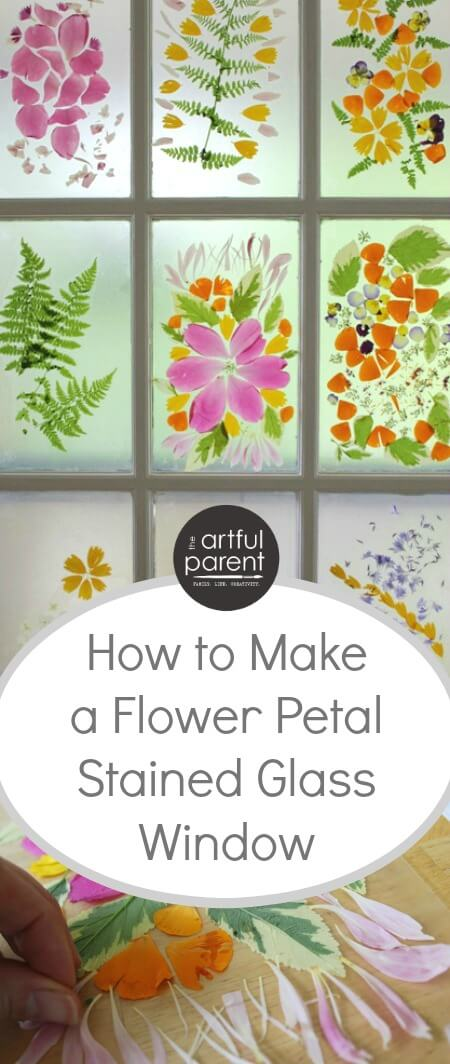 Flower Petal Stained Glass Door A Spring Flower Craft