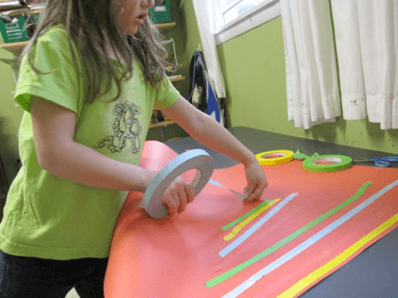 Masking Tape Art with Kids