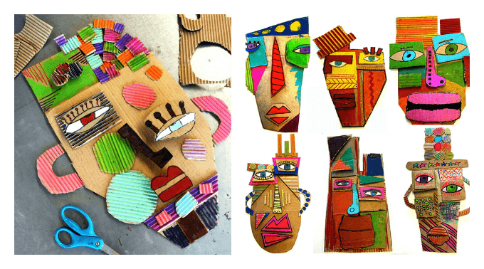Cardboard Masks Art