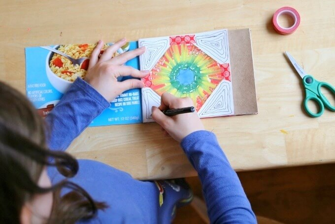 DIY Art Journals for Kids with Art Prompts