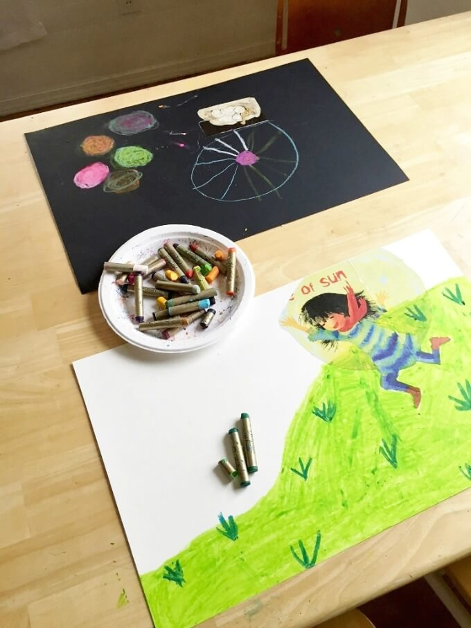 Magazine Collage Drawing Prompts for Kids