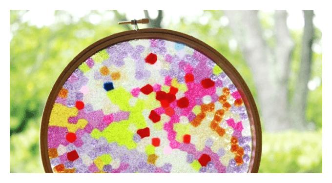 Handmade Mothers Day Gift Ideas - A Melted Bead Suncatcher