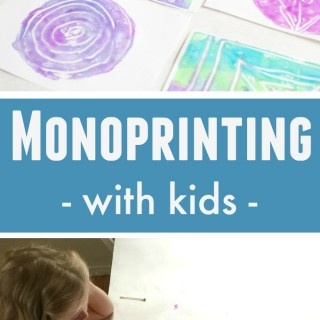 Monoprinting with Kids the Easy Way