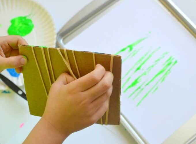 Rubber Band Printing for Kids