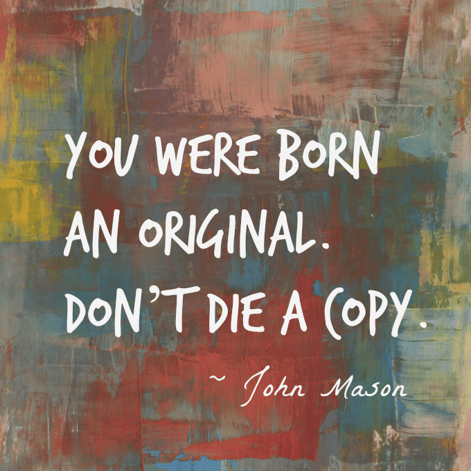 Dont Die a Copy Quote