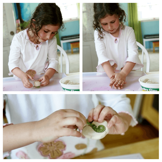 Making Clay Leaf Prints with Air Dry Clay