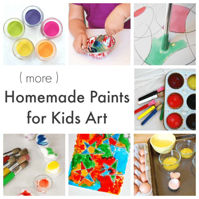 7 More DIY Paint Recipes for Kids Art