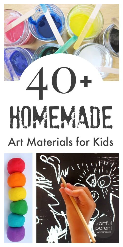 Homemade Art Materials for Kids Art - More than 40 Recipes and Tutorials
