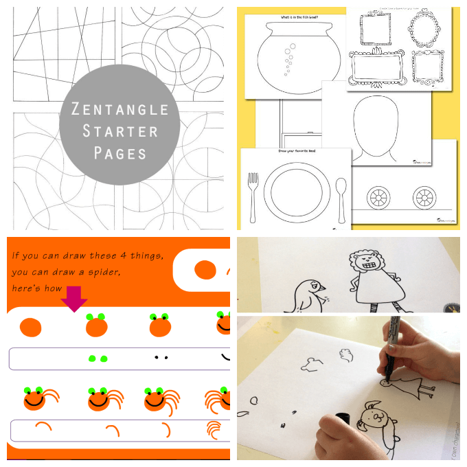 More Printable Art Activity Pages for Kids