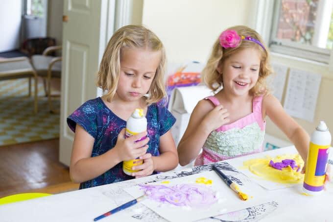 Foam Paint Art for Kids