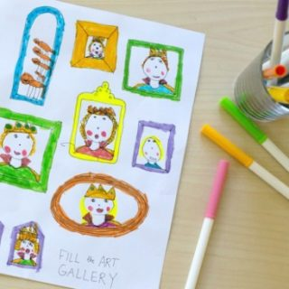 Inspire Your Kids Creativity with a Frame Art Drawing Prompt and Printable