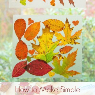 Simply Gorgeous Autumn Leaf Suncatchers