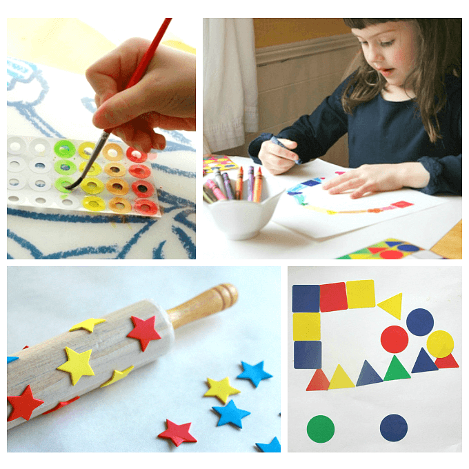 13 sticker art projects for kids simple ideas using a for Cool art ideas for kids