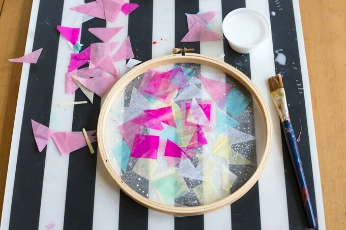 How to make tissue paper suncatchers