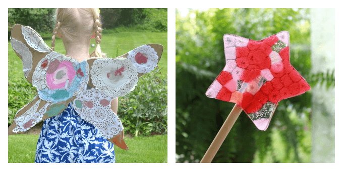 Kids Craft Ideas - DIY Fairy Wings and Fairy Wands