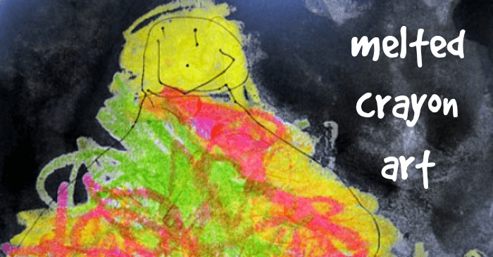 Melted Crayon Art for Kids to Hang in the Window
