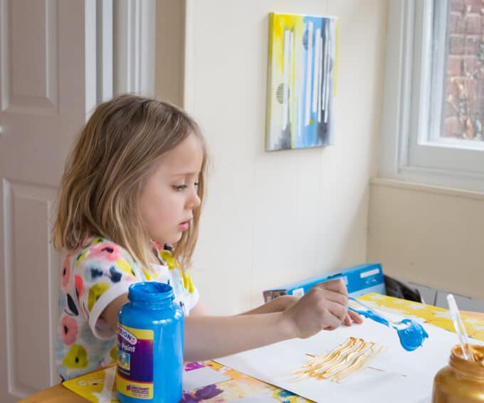 Instructions for Doing Scraper Art with Kids