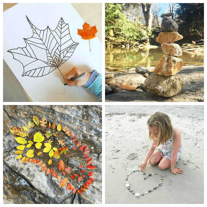 Nature Art for Kids :: 33 Nature Art Activities to Try