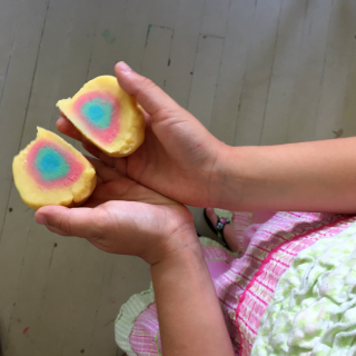 Playdough Fun with Mandalas, Earth Balls, and Color Mixing