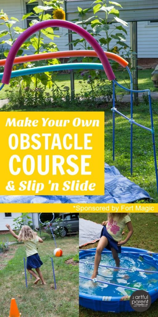 Make your own obstacle course for kids and diy slip n slide for Build your own home website