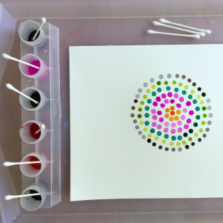 Pointillism Art for Kids with Watercolor Paint