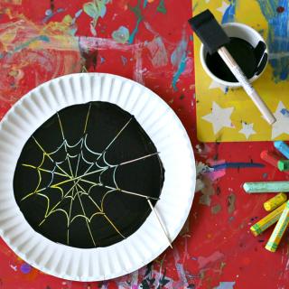 Halloween Scratch Art :: Spider Webs, Jack-O'-Lanterns & More
