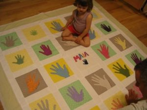 Maia's hand quilt