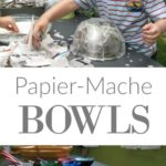 Papier mache bowls with the art group