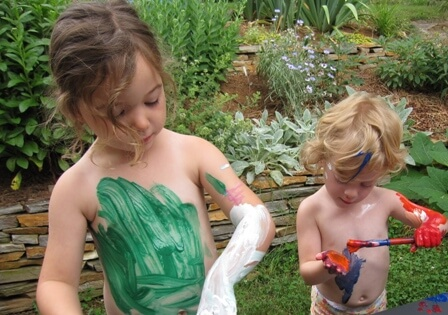 Body Painting with the Childrens Art Group