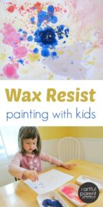 Wax Resist Painting with Watercolors