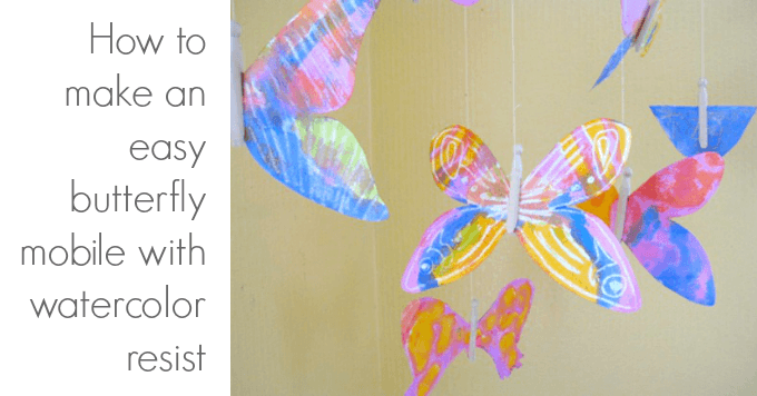 A Watercolor Resist Butterfly Art Project for Kids