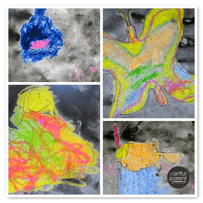 Crayon Melts - Melted Crayon Watercolor Resist