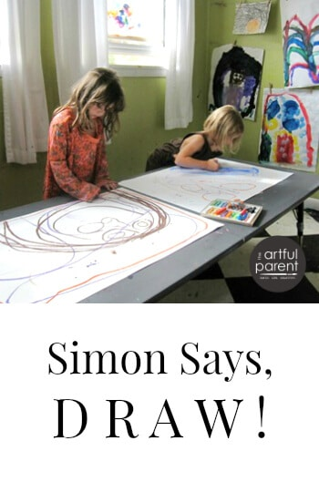 Simon Says Draw Kids Drawing Activity