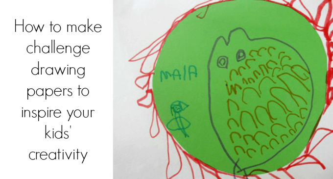 How to make challenge drawing papers to inspire your kids creativity