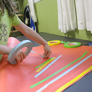 Masking Tape Art For Kids