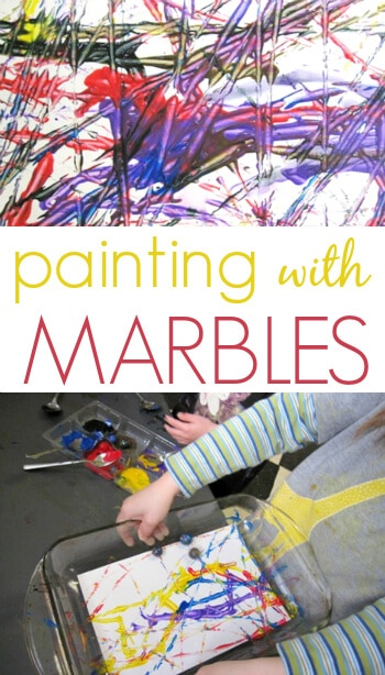 Painting with Marbles - A Great Kids Art Activity