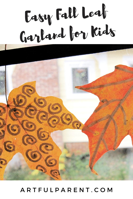 fall leaf garland pinterest