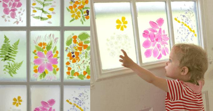 Flower Petal Stained Glass Door A Spring Flower Craft