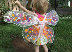 Children's fairy wings look like suncatchers with this easy upcycle craft.