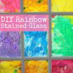 A Rainbow Stained Glass Window