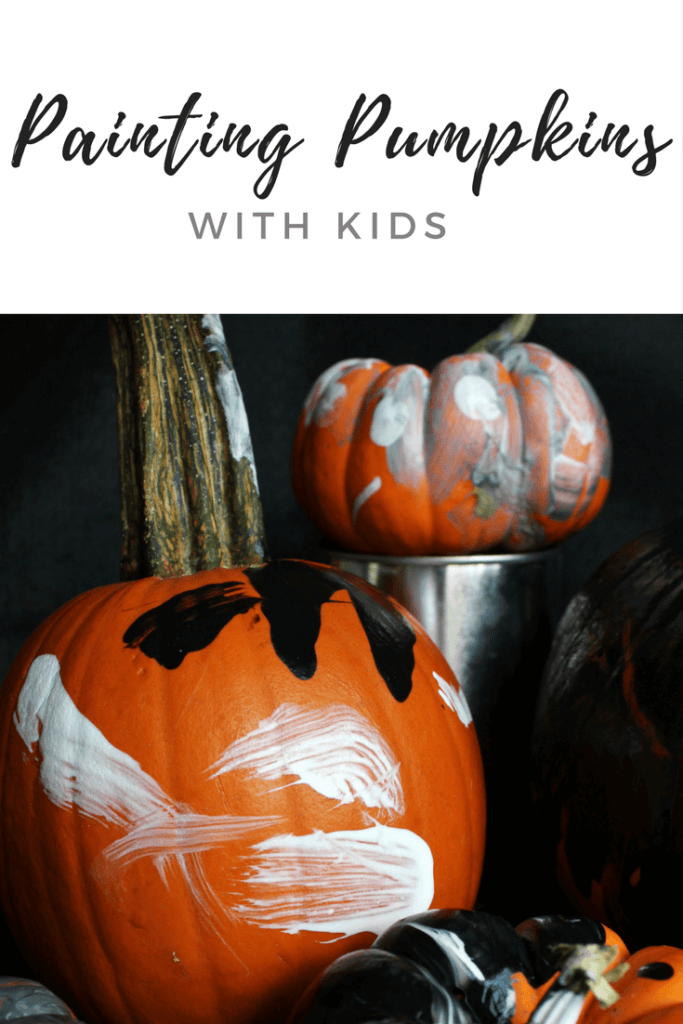Painting Pumpkins With Kids Is The Perfect Halloween Sensory Activity