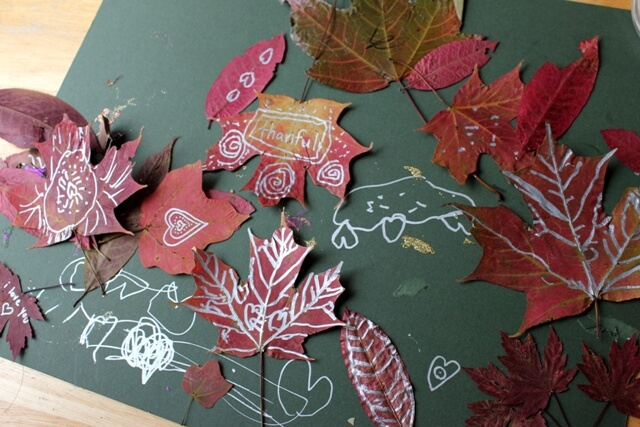 Fall Leaf Drawing and Doodling