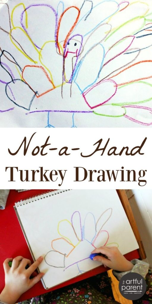Not a Hand Turkey Drawing for Kids