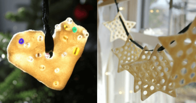 Salt Dough Ornament Ideas - Beaded and Lacy Ornaments