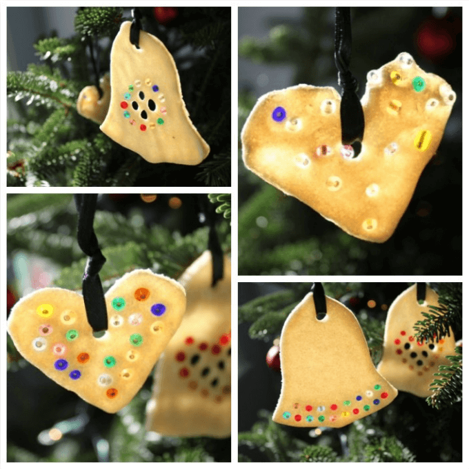 Salt Dough Ornament Ideas - Beaded Salt Dough Ornaments