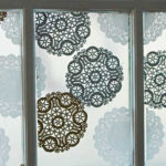 How To Make A Wintry Window with Paper Doilies