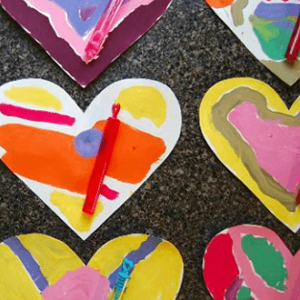 Color Mixing for Kids & Colorful Heart Valentines