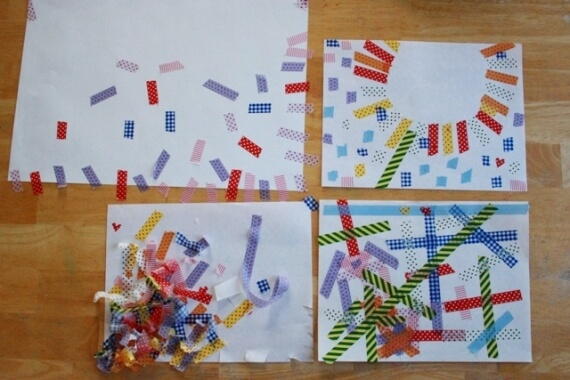 Washi Tape Art with Printed Masking Tape