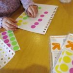Keeping Toddlers Busy with a Sticker Art Activity